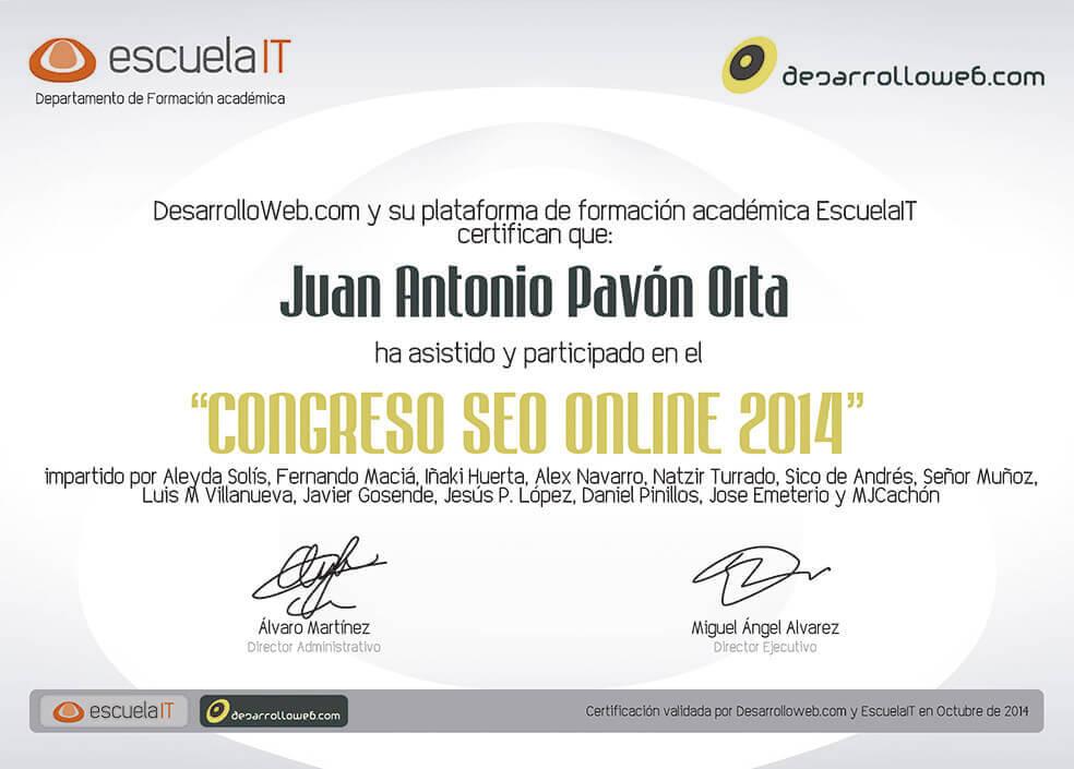Congreso SEO online 2014 - Juan Antonio Pavón