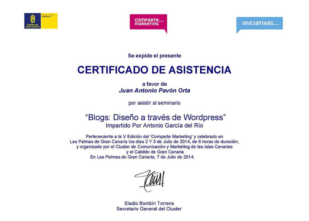 Diseño a traves de WordPress - Juan Antonio Pavón
