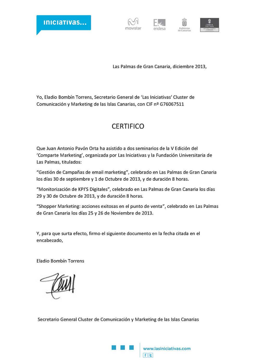 Email Marketing - Juan Antonio Pavón