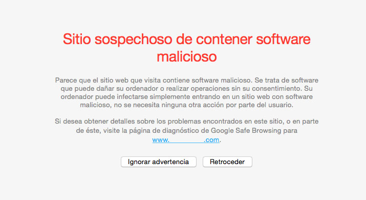 Bloqueo de seguridad en WordPress por software malicioso