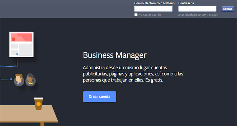Crear una cuenta Facebook Business Manager