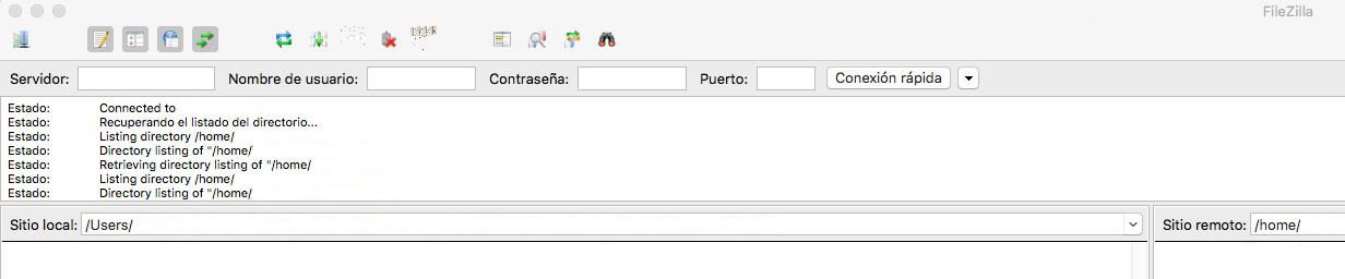 Acceso a FileZilla