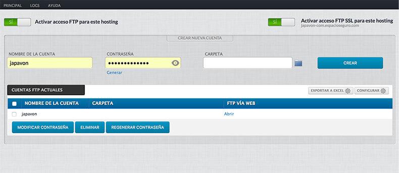 FTP de Dinahosting