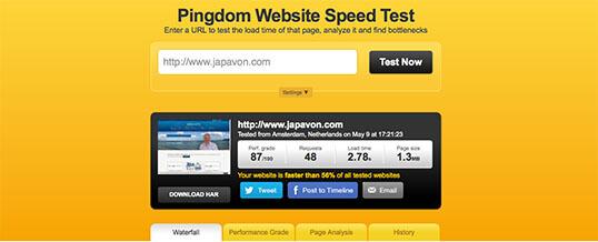 Pingdom - Velocidad de tu web