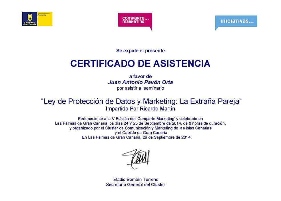 Ley de protección de datos y Marketing - Juan Antonio Pavón