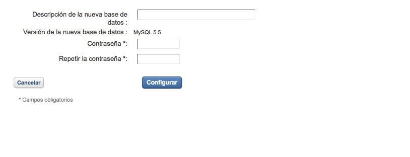 Crear una nueva base de datos MySQL