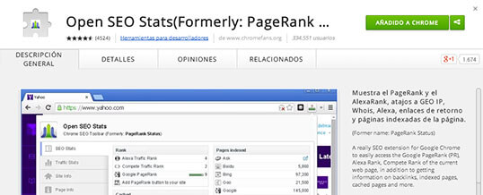Análisis SEO de una web con Open SEO Stats