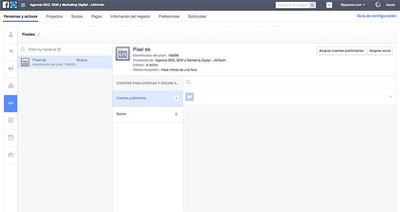 Pixeles en Facebook Business Manager