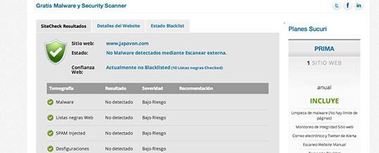 Sucuri Web, Malware