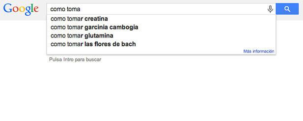 Sugerencias google para posicionamiento