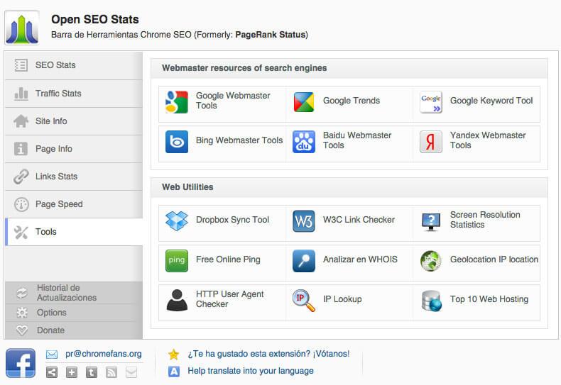 Análisis SEO con Open SEO Stats - Tools